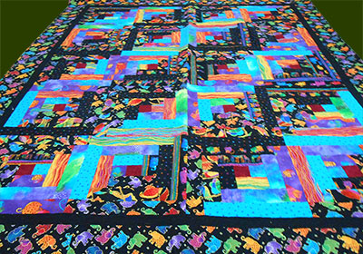 african trumpets quilt